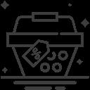Ícone de cesta de mercado