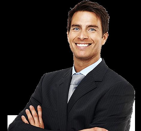 Empresário satisfeito - Sistema de Gestão Sygma