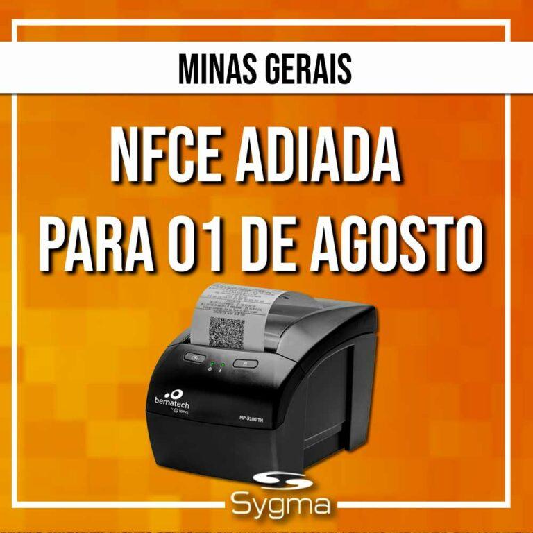 NFCe MG adiada com nova prorrogação da Resolução 5645/2021