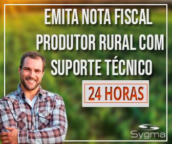 Homem no campo, com frase sobre Nota Fiscal de Produtor Rural